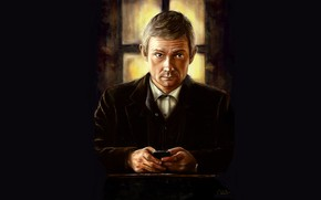 Картинка Мартин Фриман, Sherlock, Sherlock BBC, Sherlock Holmes, Джон Ватсон, by andycwhite