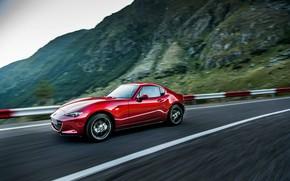 Картинка горы, красный, Mazda, тарга, 2019, MX-5 RF