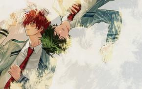 Картинка My Hero Academia, Boku No Hero Academia, Мидория Изуку, Тодороки Шото, Моя Геройская Академия