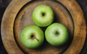 Картинка яблоки, тарелка, натюрморт