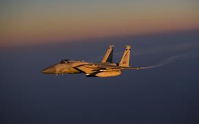 Картинка Eagle, ВВС США, McDonnell Douglas, истребитель четвёртого поколения, F-15C, американский всепогодный, завоевания превосходства в воздухе, …