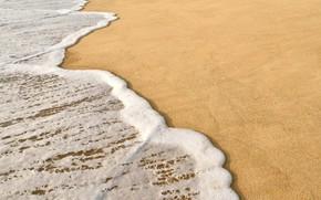 Картинка песок, море, волны, пляж, лето, берег, summer, beach, sea, seascape, sand, wave