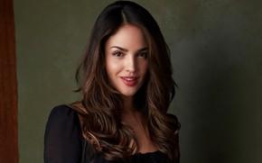 Картинка взгляд, девушка, фон, волосы, портрет, актриса, красивая, Eiza Gonzalez