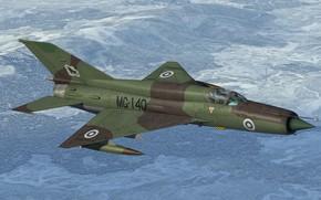 Картинка КБ МиГ, МиГ-21бис, Фронтовой истребитель, 'Black Lynx'