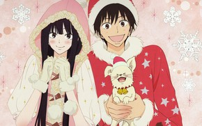 Картинка зима, Kimi ni Todoke, Дотянуться до тебя, Sawako Kuronuma, Pedro Martinez, Shota Kazehaya