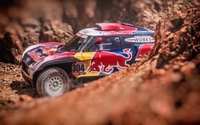 Картинка Mini, Машина, Автомобиль, Rally, Dakar, Дакар, Ралли, Buggy, Багги, 304, X-Raid Team, MINI Cooper, X-Raid, …
