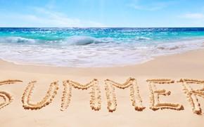Картинка песок, море, пляж, лето