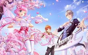 Картинка любовь, музыка, настроение, весна, арт, сердечка, 叁乔居 3QSTUDIO, QQ炫舞