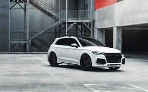 Картинка Audi, White, Vossen, VAG, SQ5, Sight