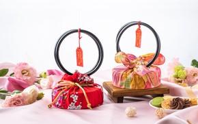 Картинка подарок, конфеты, сладости, коробки, эустома