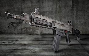 Обои оружие, фон, автомат, CZ BREN