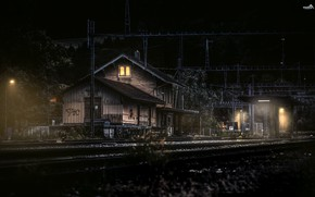 Обои железная дорога, Switzerland, Canton of Berne, станция, Gwatt