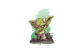 Картинка Star Wars, Yoda, Derek Laufman