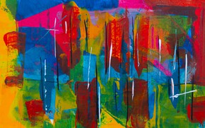Картинка краска, текстура, colorful, мазки, color texture
