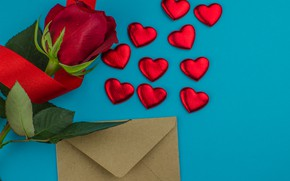 Картинка подарок, шоколад, розы, конфеты, сердечки, красные, red, love, flowers, romantic, hearts, chocolate, valentine's day, roses, …
