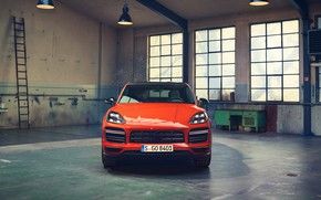 Картинка Porsche, вид спереди, Coupe, Turbo, Cayenne, 2019