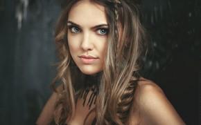Картинка взгляд, девушка, лицо, волосы, портрет, красивая, Алексей Жуков