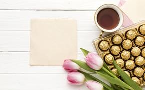 Картинка коробка, букет, конфеты, день матери