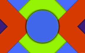 Картинка круг, тени, слои, вигуры