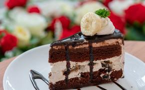 Картинка шоколадное, шоколад, крем, пирожное, десерт