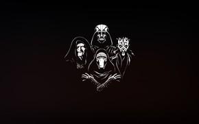 Картинка Минимализм, Рисунок, Star Wars, Фон, Darth Maul, Darth Vader, Арт, Ситх, Дарт Вейдер, Illustration, Sith, …