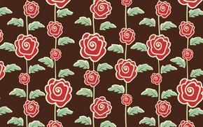 Картинка цветы, розы, текстура, коричневый фон