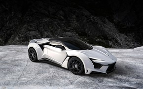 Картинка Авто, Белый, Рендеринг, Supercar, Concept Art, Спорткар, SuperSport, Transport & Vehicles, Benoit Fraylon, by Benoit …