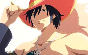 Картинка шляпа, парень, Fairy Tail, Грей Фулбастер, Хвост феи