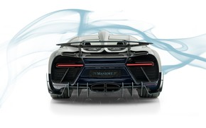 Картинка Bugatti, суперкар, вид сзади, Mansory, гиперкар, Chiron, 2019, Centuria