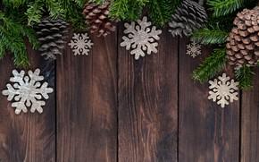 Картинка украшения, Новый Год, Рождество, Christmas, wood, New Year, decoration, xmas, Merry, fir tree, ветки ели