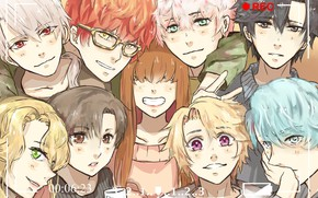 Картинка Unknown, Protagonist, Zen, Rika, Mystic Messenger, Jumin Han, Jaehee Kang, Yoosung