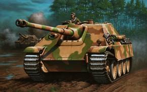 Картинка Германия, Лес, Jagdpanther, Истребитель танков, Sd. Kfz. 173