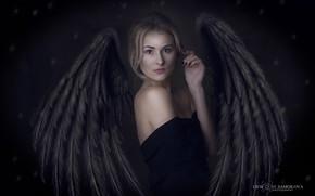 Картинка готика, ангел, фэнтази, девувшка, портрет девушки
