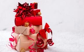 Картинка Рождество, подарки, Новый год, Праздник, декор