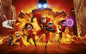 Обои Man, Film, Pixar Animation Studios, EXCLUSIVE, Superheroes, Men, 2018, Edna, City, Hero, Faster, Female, Heroes, ...