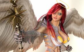 Картинка девушка, ангел, воин