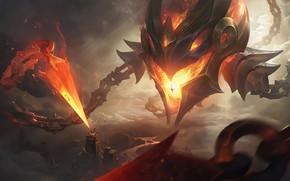 Картинка существо, демон, League Of Legends, Vel'koz, щепи