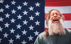 Картинка фон, человек, флаг
