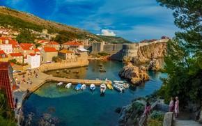 Картинка дома, бухта, Хорватия, Дубровник