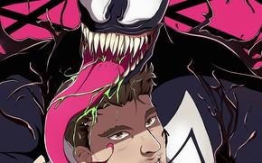 Картинка комиксы, Веном, Venom, Эдди Брок, by ototobo