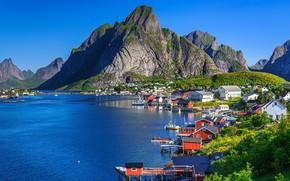 Картинка горы, Норвегия, Reine, Lofoten