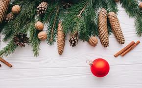 Картинка украшения, Новый Год, Рождество, Christmas, wood, New Year, decoration, Merry, fir tree, ветки ели
