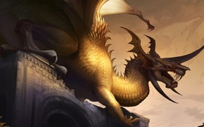 Картинка дракон, фэнтези, пасть
