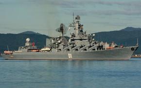 Картинка крейсер, ракетный, гвардейский, Варяг