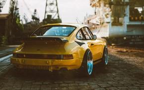 Картинка Авто, Желтый, 911, Porsche, Ретро, Машина, Porsche 911, Porsche 911 Turbo, Transport & Vehicles, by …