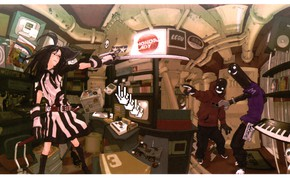 Картинка малышка, подвал, компьютерные игры, арматура, хулиганы, искажение пространства, by Yuusuke Kozaki