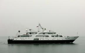Картинка туман, корабль, балтика, связи, специальный