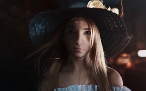 Картинка лицо, портрет, Девушка, шляпа, Alexander Drobkov-Light, Анна Паращук