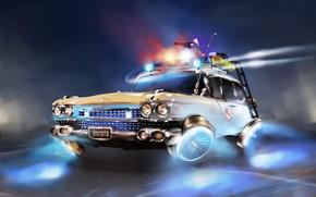 Картинка Авто, Будущее, Машина, Car, Арт, Art, Фантастика, Ghostbusters, Illustration, Vehicles, Охотники за Привидениями, Transport, Transport ...