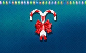 Картинка Минимализм, Рождество, Фон, Новый год, Праздник, Christmas, Art, Настроение, New Year, Background, Гирлянда, Minimalism, Новогодние …